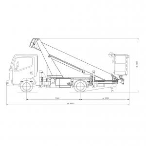 LKW Steiger Palfinger Zeichnung